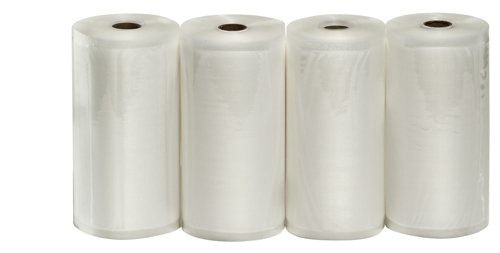 "4 Large 8"" X 50' Vacuum Sealer Rolls Commercial Grade Food Saver Sealer Bags"