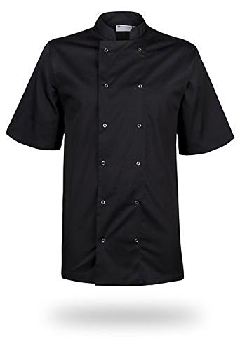 mcintyre-brand-poly-cotton-chef-half-sleeve-coat-jacket-black-medium