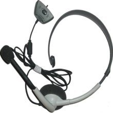 Official Microsoft Wired Headset For Xbox 360, White, Model# Nxx360-116 Bulk Picture