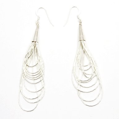 Hook Silver Strand Earrings by Maven||RF10F
