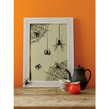 Martha Stewart Crafts Halloween Spiderweb Mirror Cling