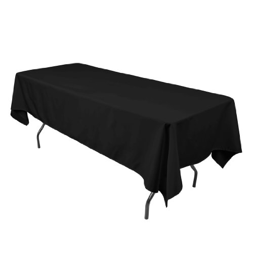 60 x 102 Inch Polyester Tablecloth Black