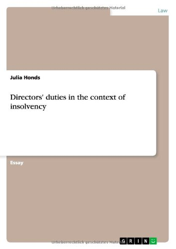Directors' Duties In The Context Of Insolvency