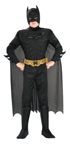 Batman Dark Knight Rises Child's Deluxe Muscle Chest Batman Costume with Mask, Small (Kids Costumes compare prices)