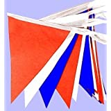 25 Metres Red White & Blue Bunting, Royal Wedding, Union Jack, Armed Forces Day.