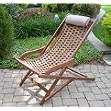 Outdoor Interiors-The Original Eucalyptus Swing Lounger With Pillow