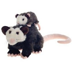 Opossum and Baby Stuffed Animal