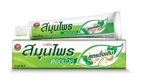 Thai Original Twin Lotus Natural Herbs Anti-Bac Herbs* Herbal Toothpaste 150 G. Made In Thailand By Twin Lotus