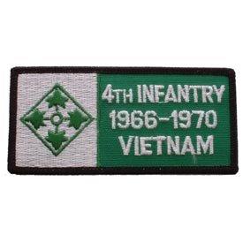 US Military Vietnam War Iron On Patch - Badges - 4th Infantry 1966-1970 Vietnam