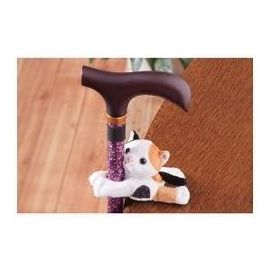 おでかけマスコット 【マキライフテック】 サバトラ猫 【杖ホルダー】