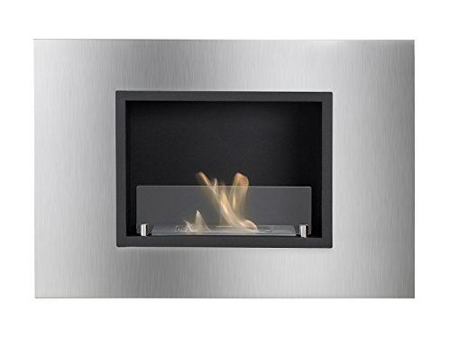 Ignis Quadra Recessed Ventless Ethanol Fireplace with Glass