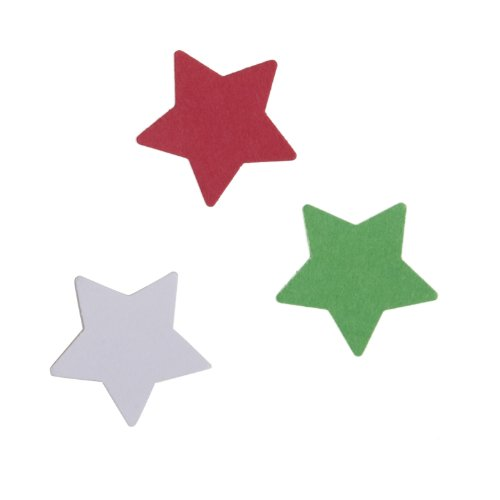 Dress My Cupcake DMCE1182T Dessert Picks and Cupcake Toppers DIY Kit, Christmas Stars