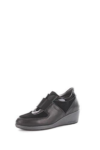 Melluso R0376 Sneakers Donna Camoscio/Pelle Nero Nero 38