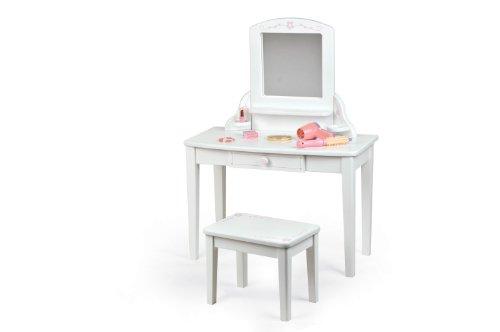 Pintoy 60.09648 - Tocador infantil de madera, color blanco