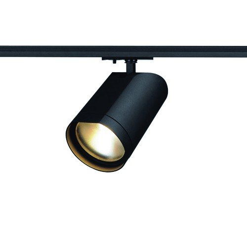 SLV 1-Phasen Strahler Bilas Spot Single, 15W, COB LED, 2700K, 60 Grad, inklusiv Adapter, schwarz 143560