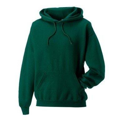 Russell Colour Mens Hooded Sweatshirt / Hoodie (XS) (Bottle Green)