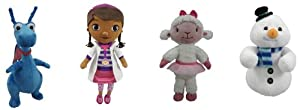 "Disney Doc McStuffins 8"" Mini Beanbag Plush Complete Set of 4: Dottie; Lambie; Stuffy; Chilly"