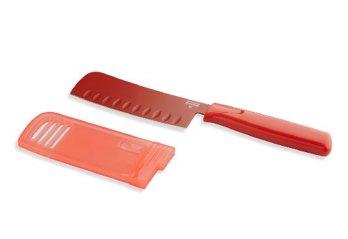 Kuhn Rikon Original Nakiri 5-Inch Knife Colori, Red
