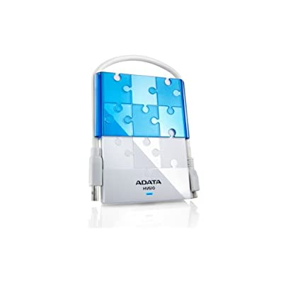ADATA Dash Drive HV610 Portable External Hard Drive, White, 500GB