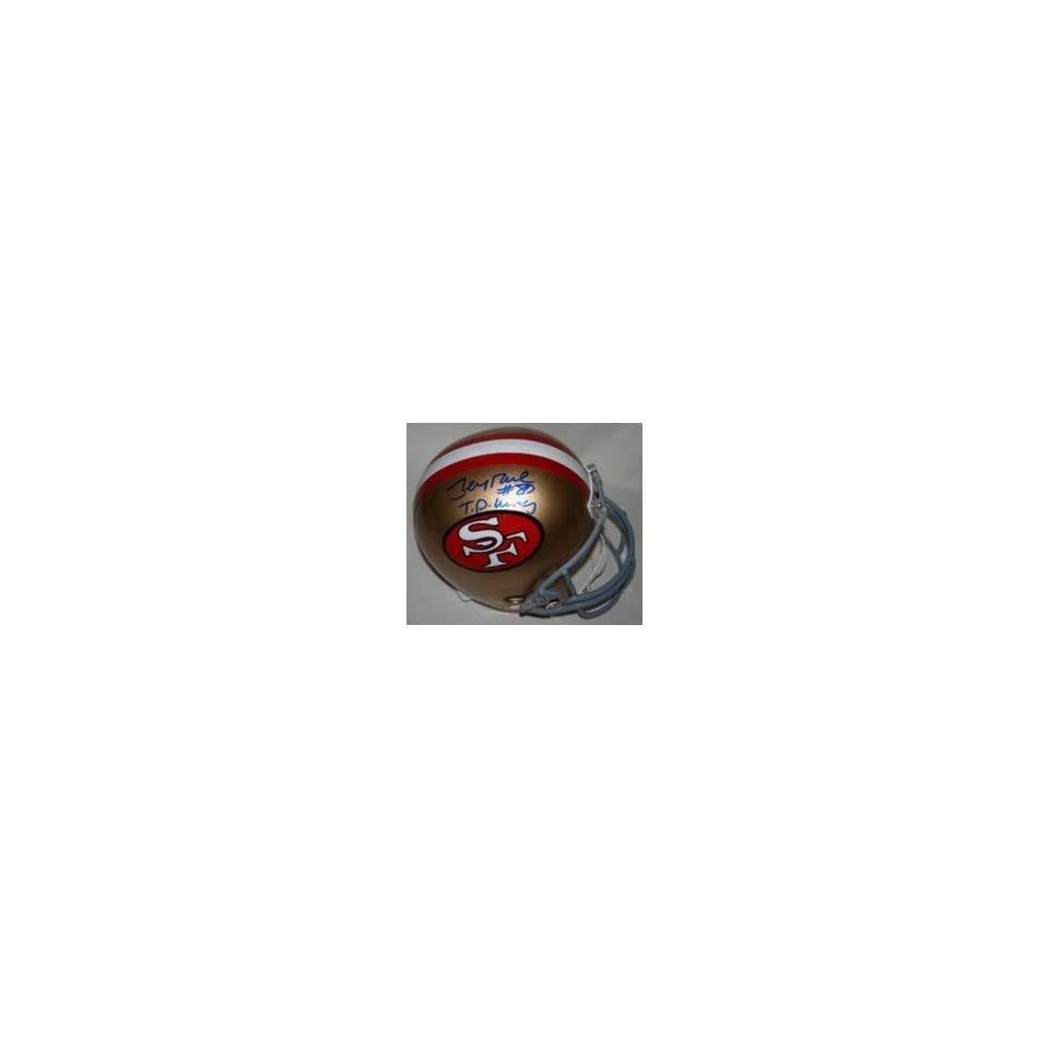 Jerry Rice Autographed San Francisco 49ers Riddell Full Size Replica Helmet with TD King Inscription