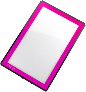 Porta-Trace LED Light Panel, Pink Frame, 8-1/2-by-11-Inch