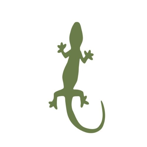 Lizard Stencil For Painting Lizards On On The Walls Of A Kids Wildlife Room front-943019