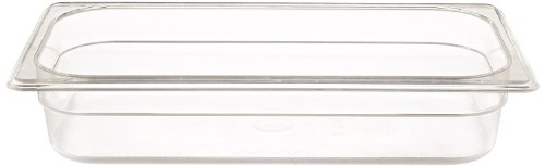 Rubbermaid Commercial Products FG116P00CLR 1/3 Size 2-5/8-Quart Cold Food Pan (Restaurant Cold Food Pan compare prices)