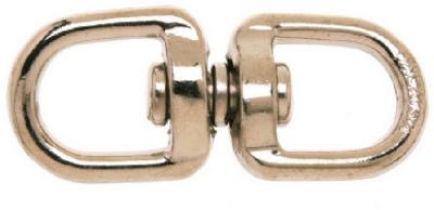 Apex Tools Group T7640302 5/8-Inch Double Round Eye Chain Swivel - Quantity 10 front-526402