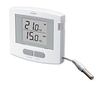 Thermom tre digital int rieur ext rieur te503 aube for Thermometre maison interieur