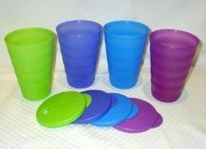 Tupperware 11 Oz Impression Tumblers in Mixed Colors