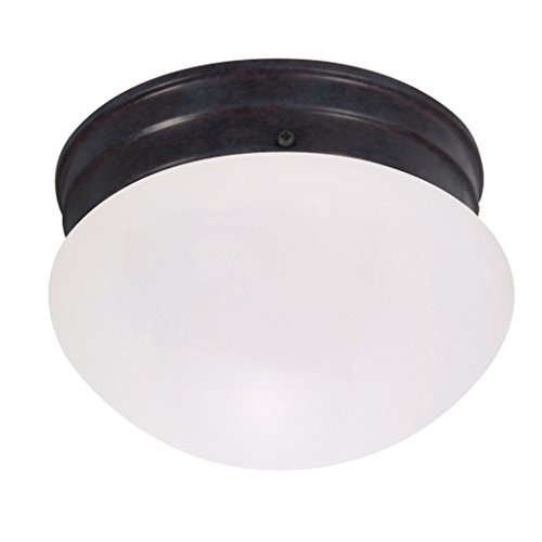 nuvo lighting 60 2641 single light small mushroom flush