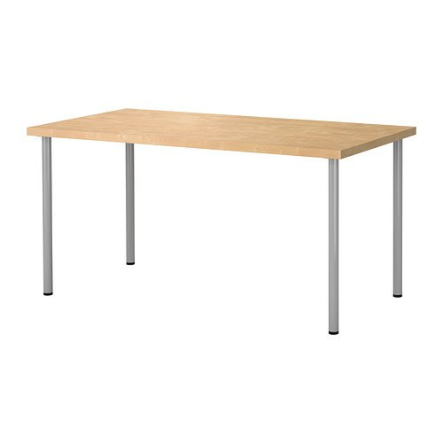 ikea linnmon desk with adils legs multi purpose table birch effect