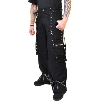 Criminal Damage Hammer Trousers (Black/Red) - (30)