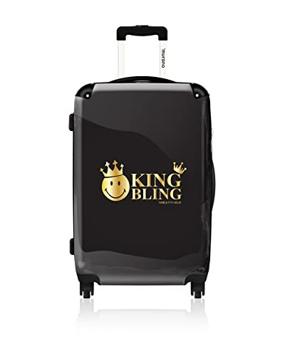 ikase Emoticon King Bling Noir 24 Hardcase, Black