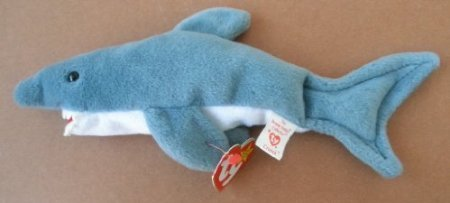 TY Beanie Babies Crunch the Shark Plush Toy Stuffed Animal - 1