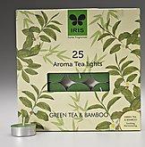 Iris Fragrant 25 Aroma Tea Lights Green Tea & Bamboo