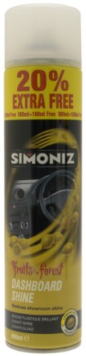 Simoniz SAPP0401A Dashboard Shine Lemon 500 ml with 20 Percent Extra Free
