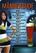 Männerbude 20 x 30 cm/plaque sign blechschilder bauer bière