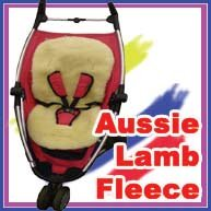 Lambskin Stroller Buggy Car Seat Fleece Liner