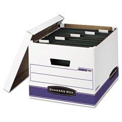 * Hang \'N\' Stor Storage Box, Legal/Letter, Lift-off Lid, White/Blue, 4/C