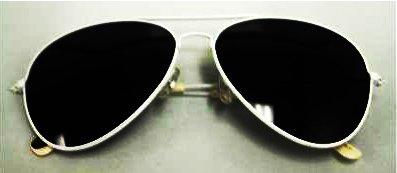 New (Unisex Mens Ladies) White Frame Black Lense Aviator Sunglasses with Cloth case UV400