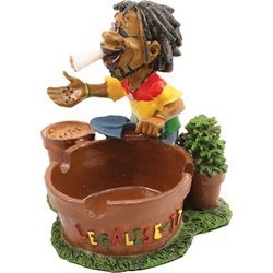 Check Out This Jamaican Man Holding Ashtray (LT121)