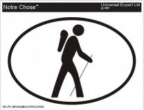 Hiking Oval Bumper Sticker