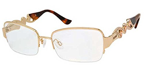 Moschino Moschino MO 079 Rose Gold Havana (01 Q69) Half Rimless Eyeglasses 53mm
