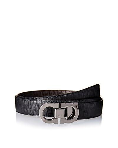 Salvatore Ferragamo Men's Reversible Belt, Black/Brown