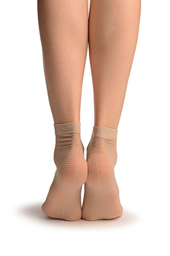 linen-beige-with-thing-stripes-seam-socks-ankle-high-socks-beige-calcetines-talla-unica-37-42