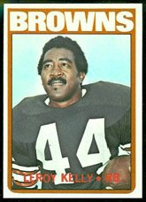 1972 Topps Regular (Football) Card# 70 Leroy Kelly of the Cleveland Browns NrMt Condition