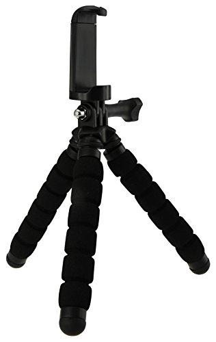 Rollei Monkey Pod Mini Cavalletto Compatto Adattabile per Smartphone, Actioncam e Videocamere Compatta, Nero