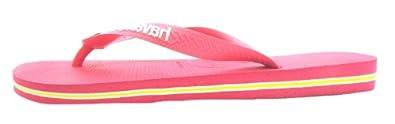 Size 41/42 Havaianas Women's H Brasil Logo Synthetic Flip Flops