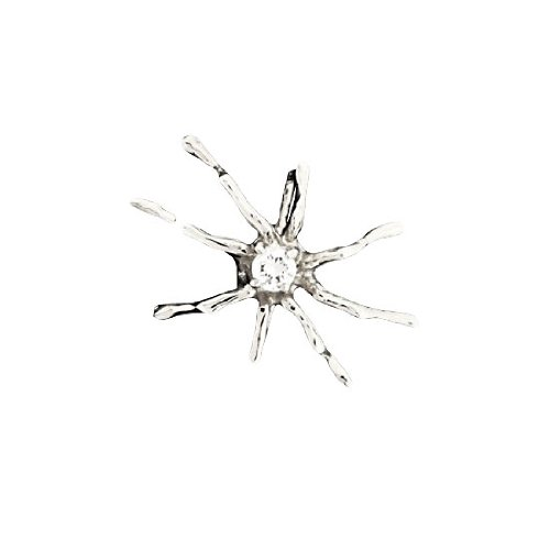 Single Sterling Silver Cubic Zirconia Spider Ear Cuff